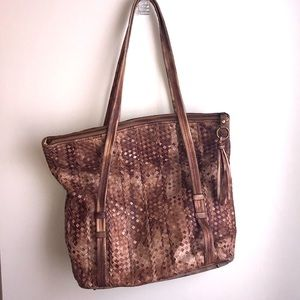 Hobo The Original large shoulder bag woven leather